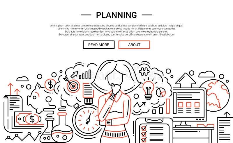 Progettazione - linea temlate dell'insegna del sito Web di progettazione royalty illustrazione gratis