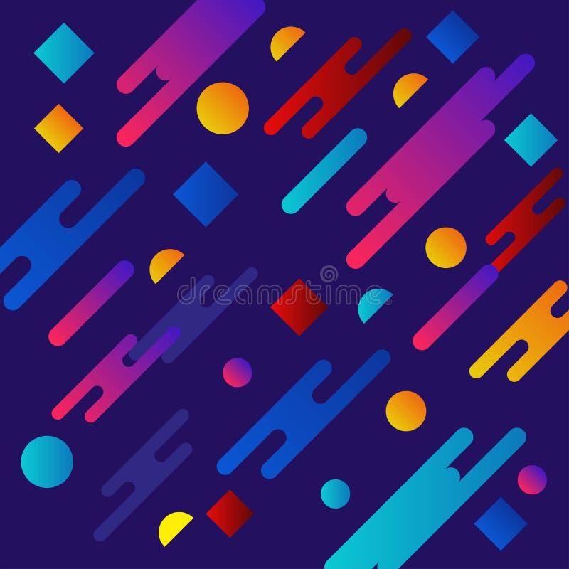 Progettazione liquida del fondo di colore La pendenza fluida modella la composizione Manifesti futuristici di progettazione Vetto illustrazione di stock