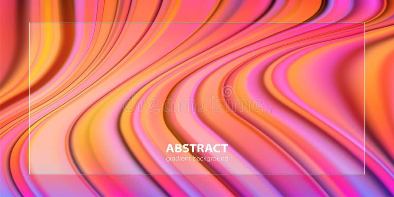 Progettazione liquida del fondo di colore Manifesti futuristici di progettazione illustrazione vettoriale
