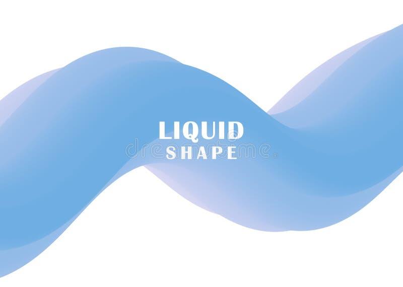 Progettazione liquida del fondo di colore Manifesti futuristici di progettazione Manifesto variopinto moderno di flusso La penden illustrazione vettoriale