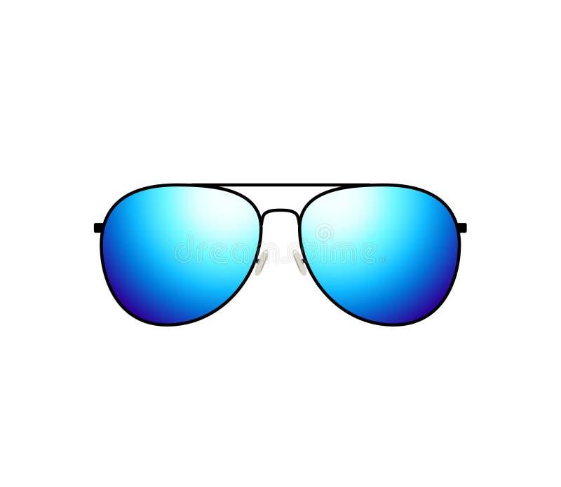 Progettazione lucida degli occhiali da sole dell'aviatore di vettore illustrazione di stock