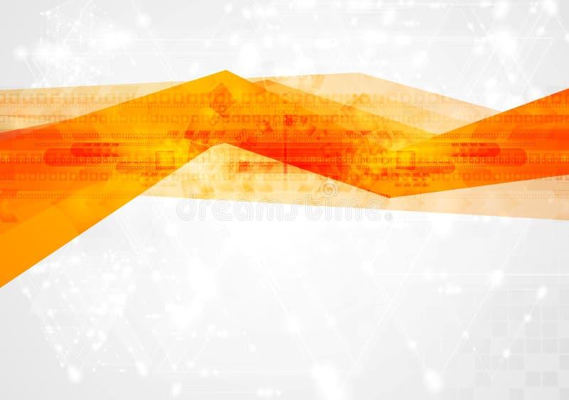 Progettazione luminosa di vettore di tecnologia illustrazione vettoriale