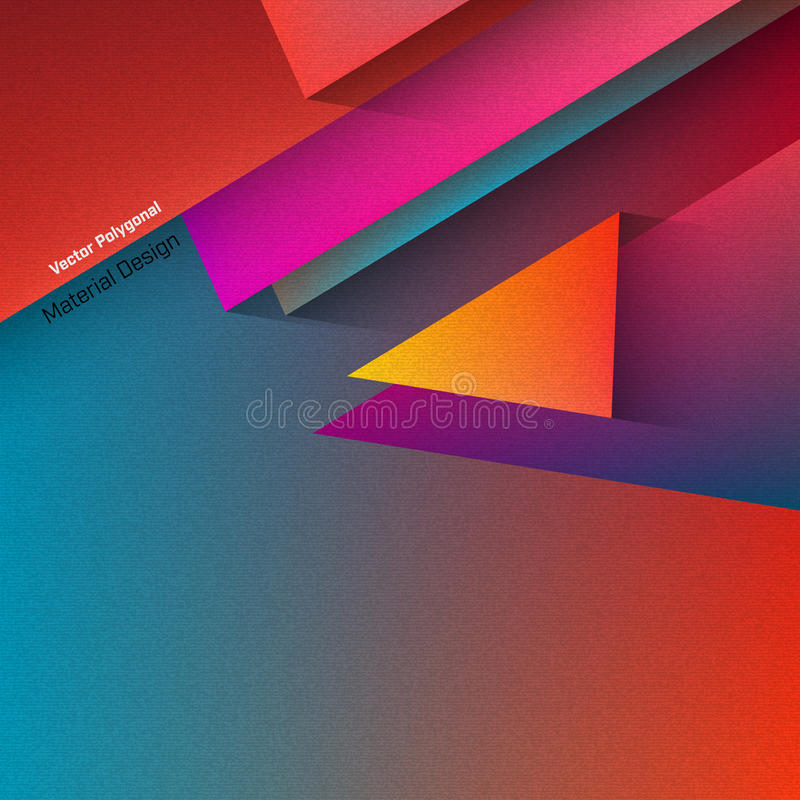 Progettazione materiale poligonale royalty illustrazione gratis