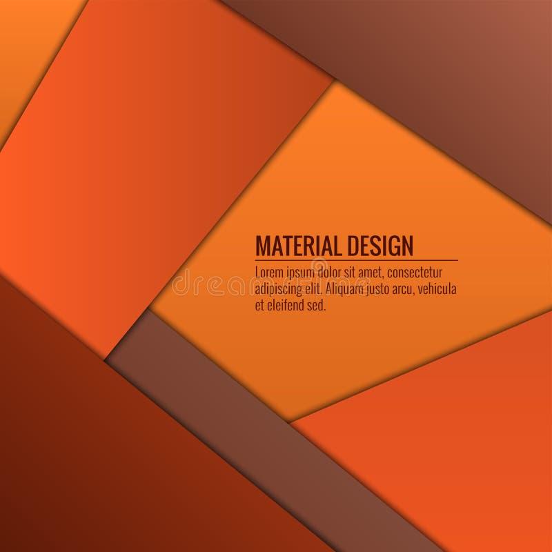 Progettazione materiale sottragga la priorità bassa Illustrazione di vettore fotografie stock