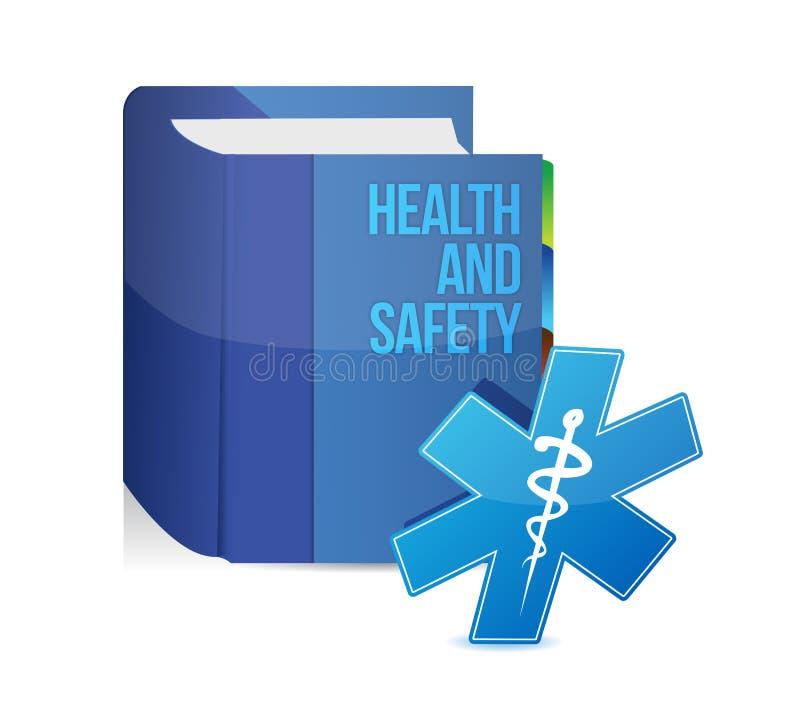Progettazione medica dell'illustrazione di libro di sanità e sicurezza royalty illustrazione gratis