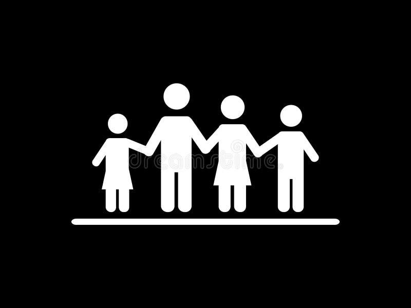 Progettazione meravigliosa dell'persone di famiglia di quattro illustrazione vettoriale