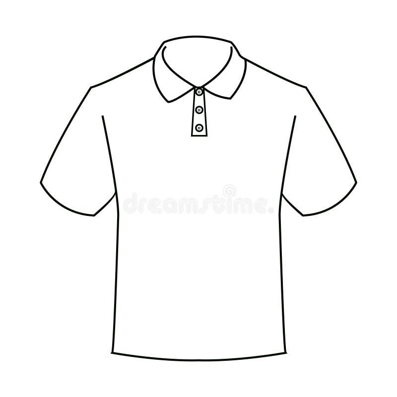 Progettazione meravigliosa della siluetta di una maglietta di bianco del ` s dell'uomo illustrazione vettoriale