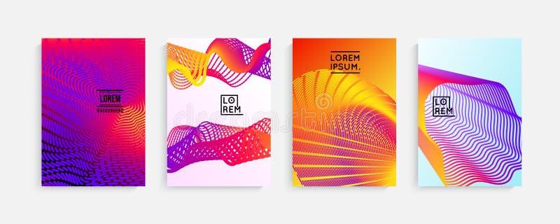 Progettazione minima delle coperture Pendenze di semitono geometriche Vettore Eps10 royalty illustrazione gratis