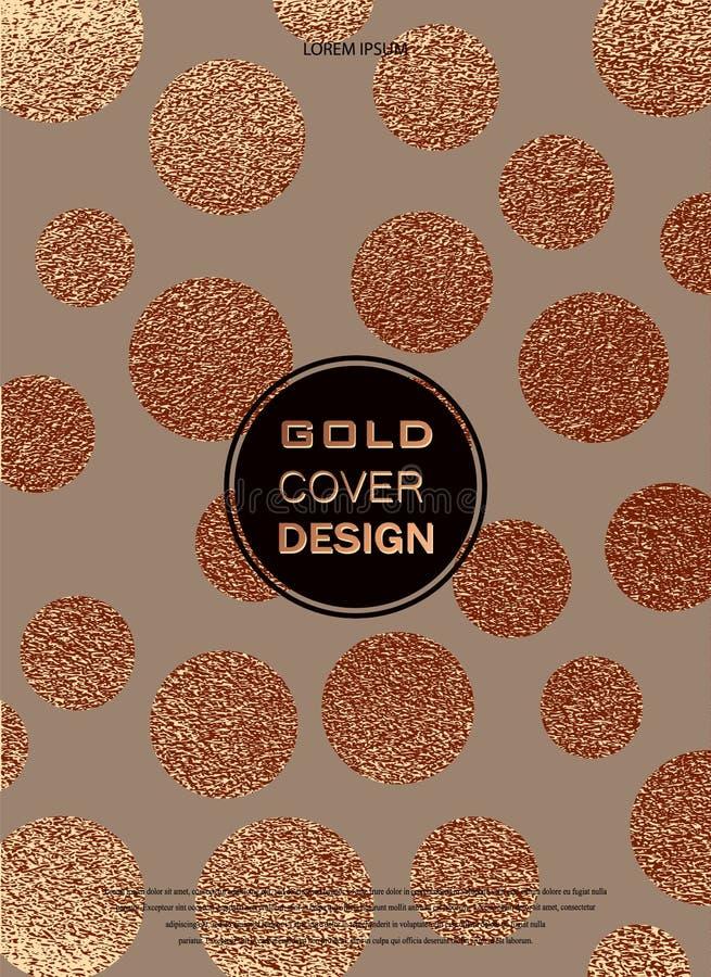 Progettazione minima moderna ed alla moda Fondo lucido di rame Struttura metallica Metallo bronzeo illustrazione di stock