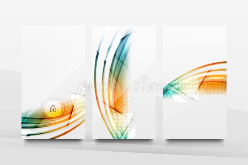 Progettazione mobile del fondo dell'interfaccia di applicazione illustrazione vettoriale