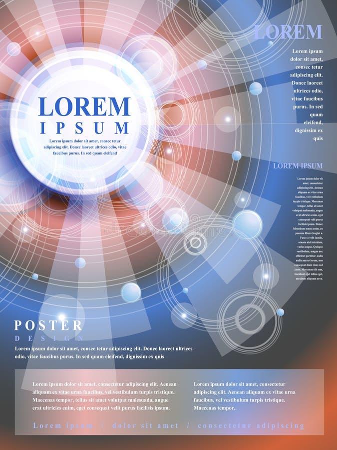 Progettazione moderna del modello del manifesto illustrazione vettoriale