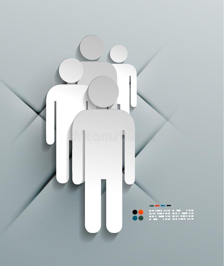 Progettazione moderna dell'uomo della carta 3d di vettore illustrazione vettoriale
