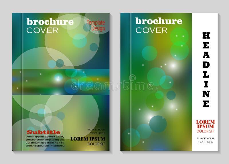 Progettazione moderna della copertura dell'opuscolo royalty illustrazione gratis
