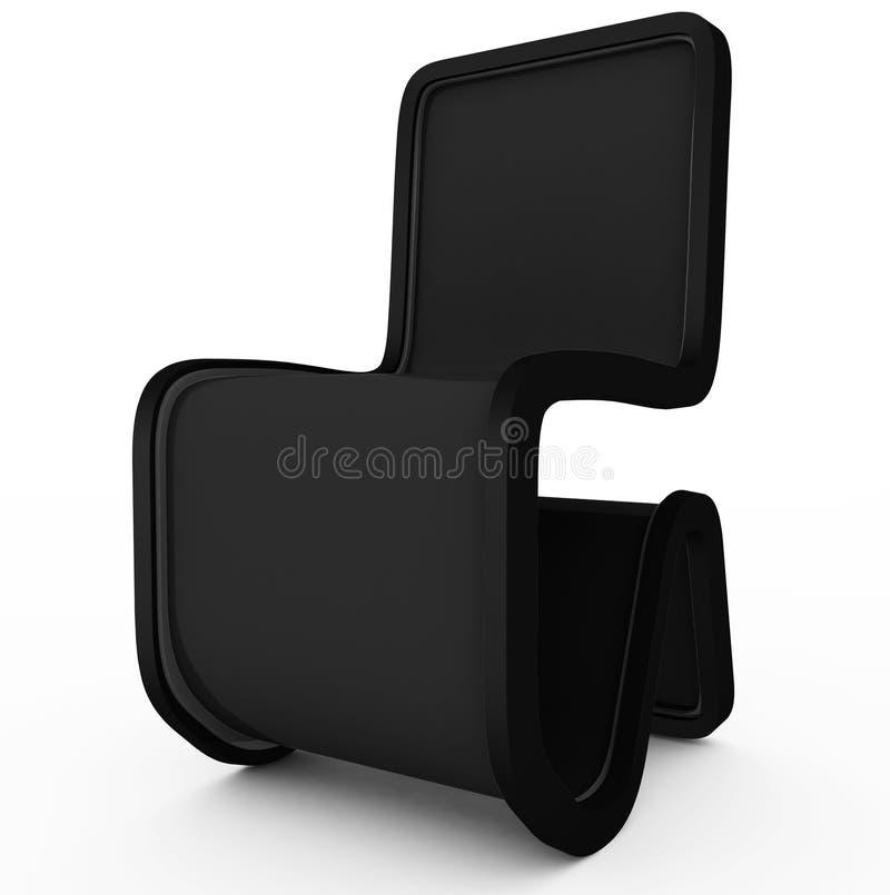 Progettazione moderna della sedia - nero- isolato su bianco royalty illustrazione gratis