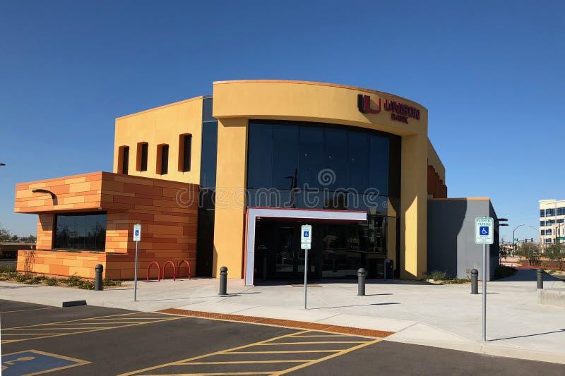 Progettazione moderna di una banca in Gilbert Arizona immagini stock