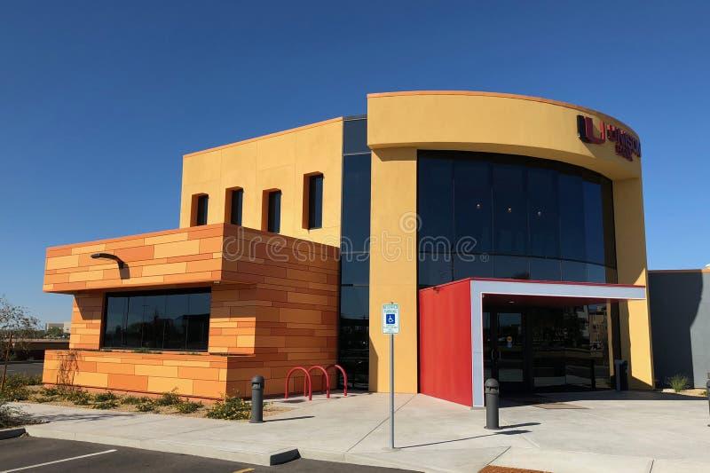 Progettazione moderna di una banca in Gilbert Arizona fotografia stock libera da diritti