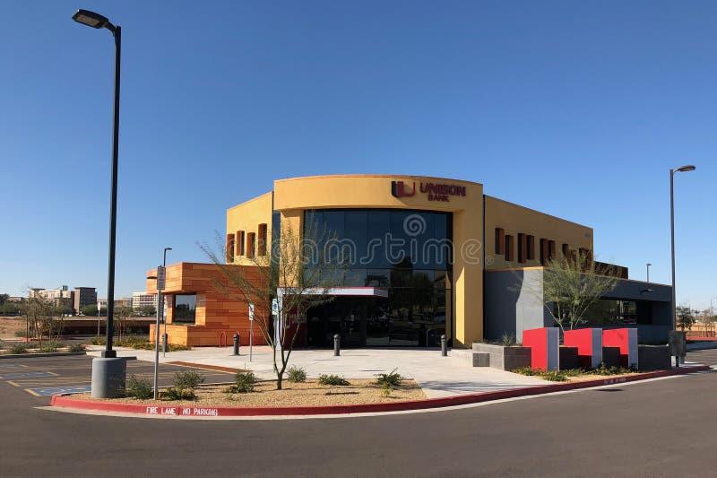 Progettazione moderna di una banca in Gilbert Arizona immagine stock