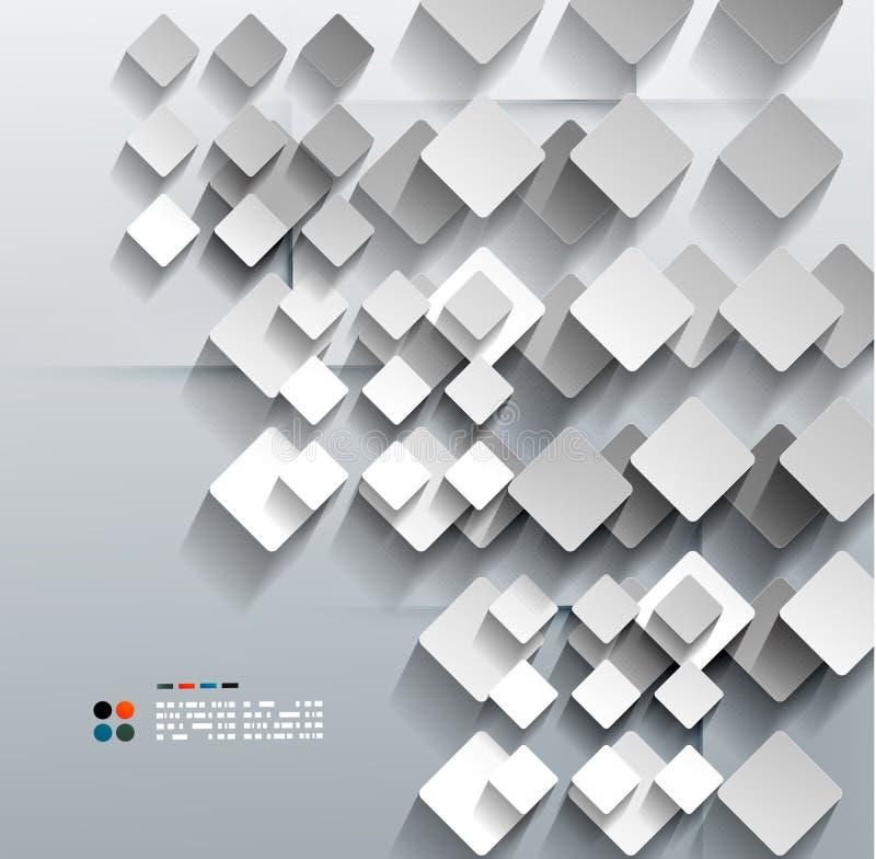 progettazione moderna di vettore di rombo della carta 3d illustrazione di stock