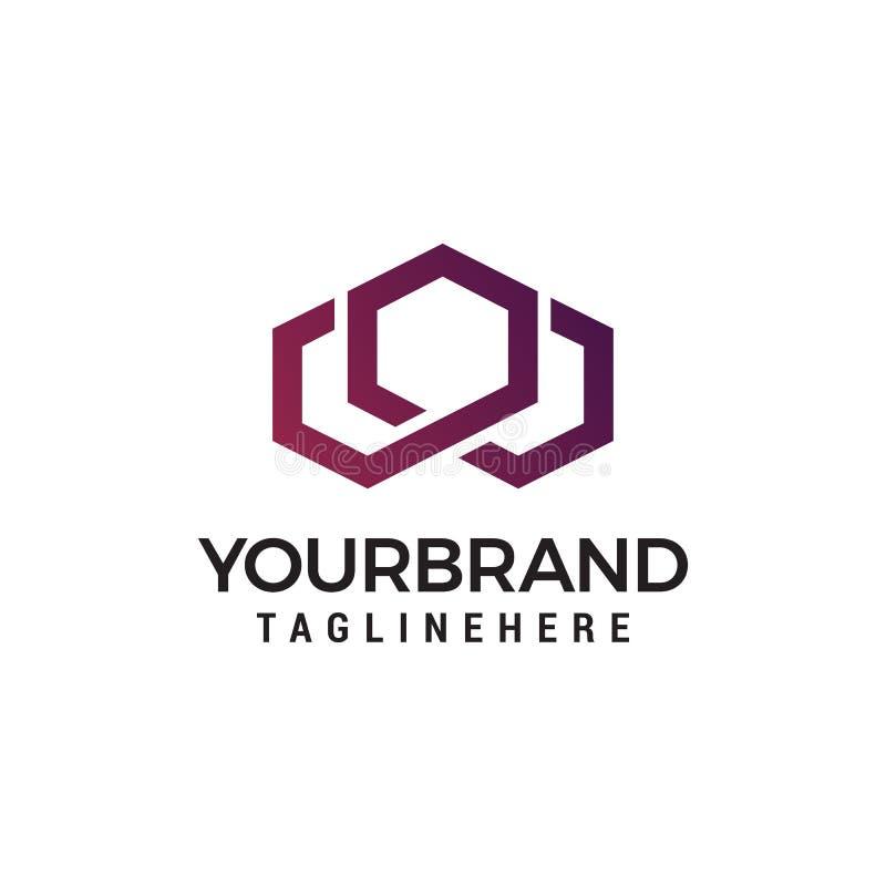 Progettazione moderna ed alla moda di logo di W nel vettore per costruzione, la casa, il bene immobile, l'edificio, la proprietà  royalty illustrazione gratis