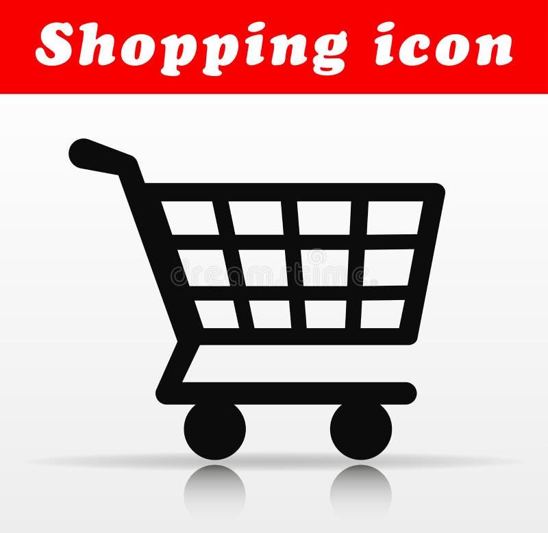 Progettazione nera dell'icona di vettore del carrello royalty illustrazione gratis