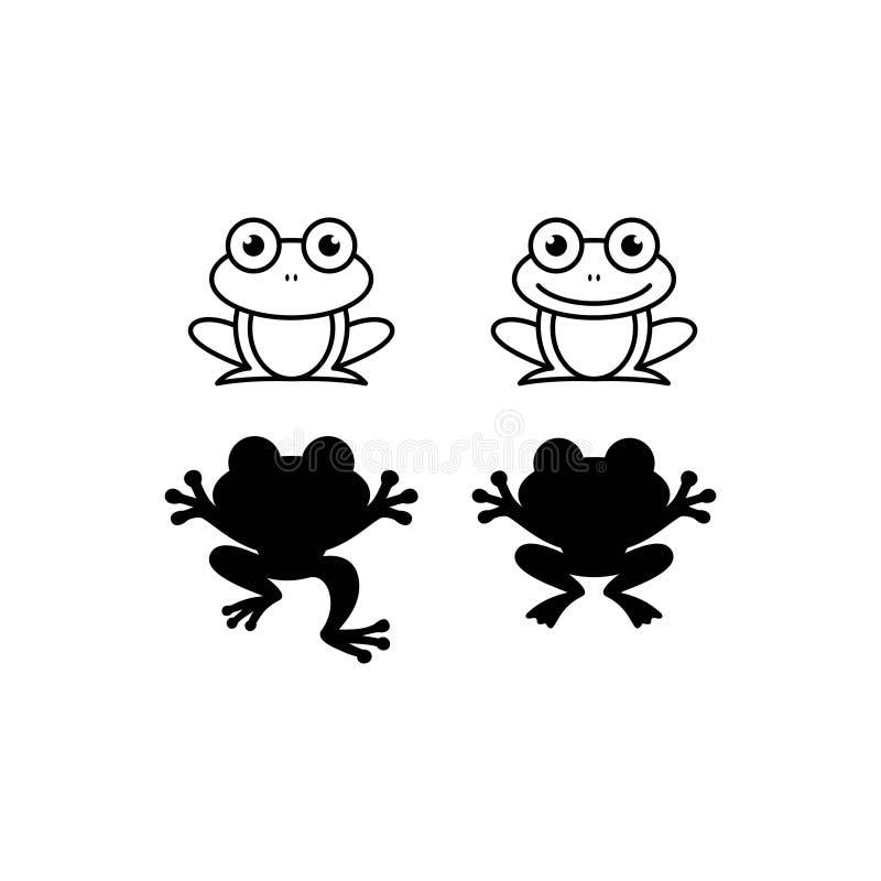 Progettazione nera di logo della rana royalty illustrazione gratis