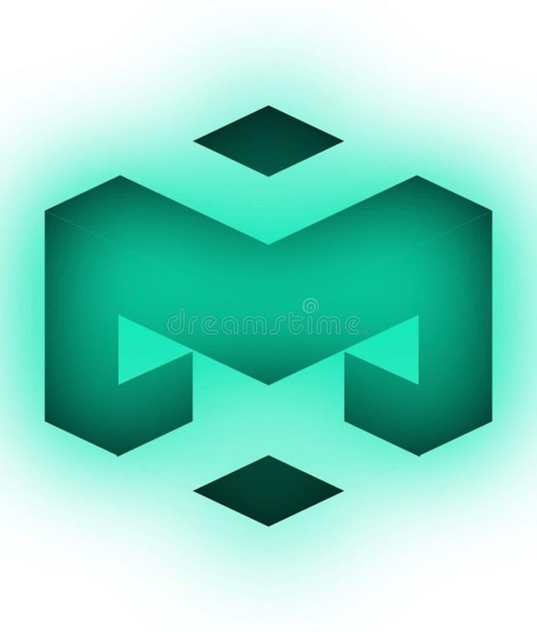 progettazione nera e verde astratta di logo di vettore illustrazione vettoriale
