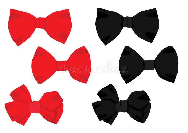 Progettazione nera rossa dell'arco su fondo bianco illustrazione vettoriale