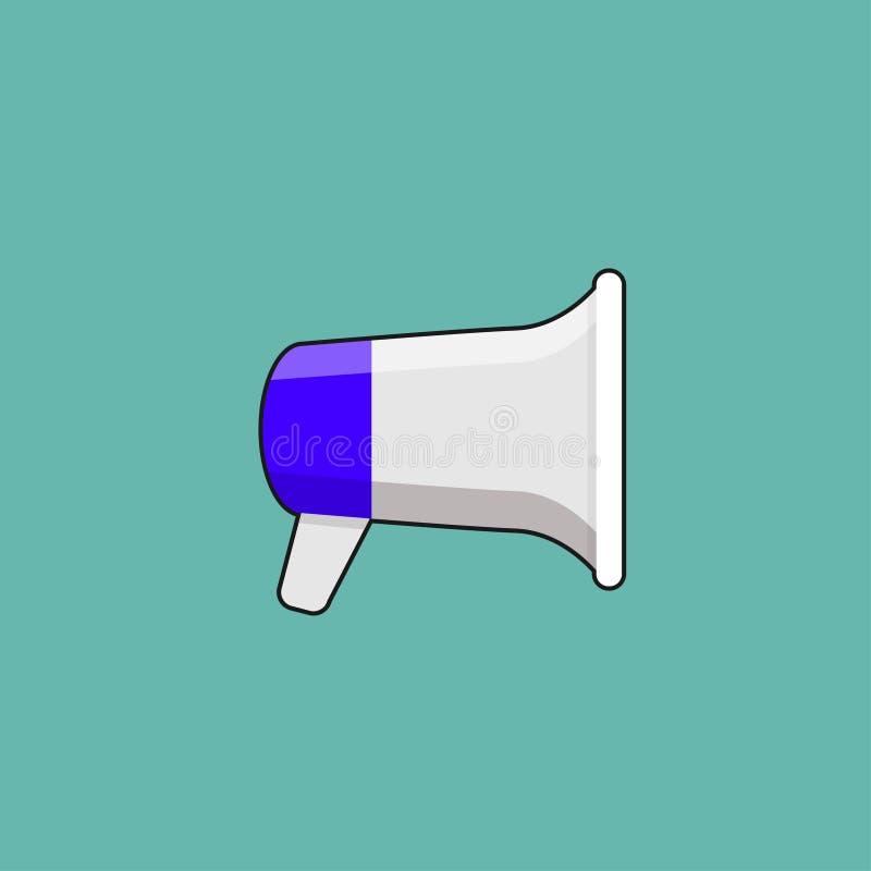 Progettazione o altoparlante del megafono per amplificare royalty illustrazione gratis