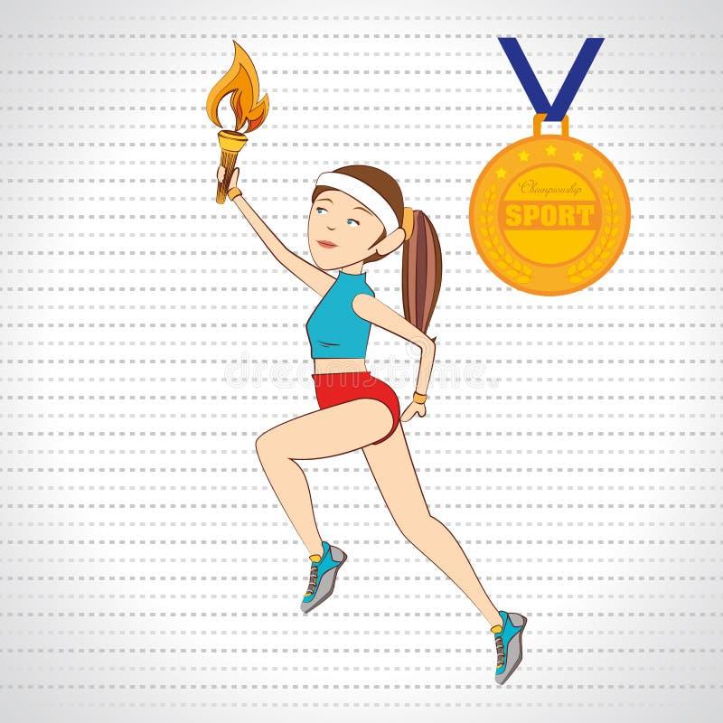 progettazione olimpic di sport illustrazione di stock
