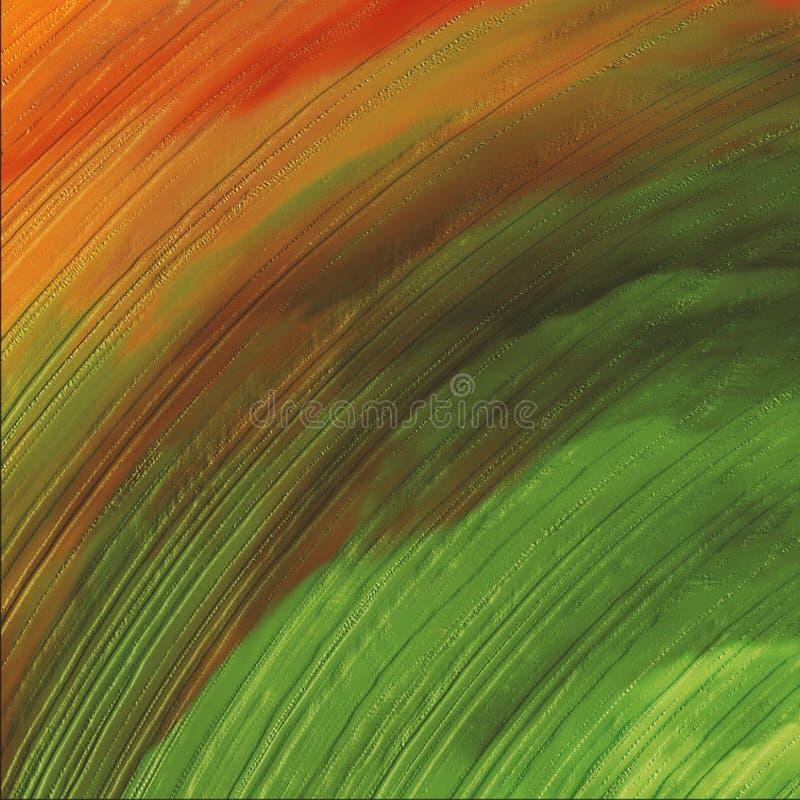 progettazione ondulata variopinta dell'estratto 3D Pittura d'ardore luminosa della tela Stampa disegnata a mano della tela dei co fotografie stock libere da diritti