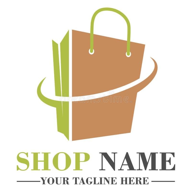 Progettazione online del modello di logo del negozio illustrazione vettoriale