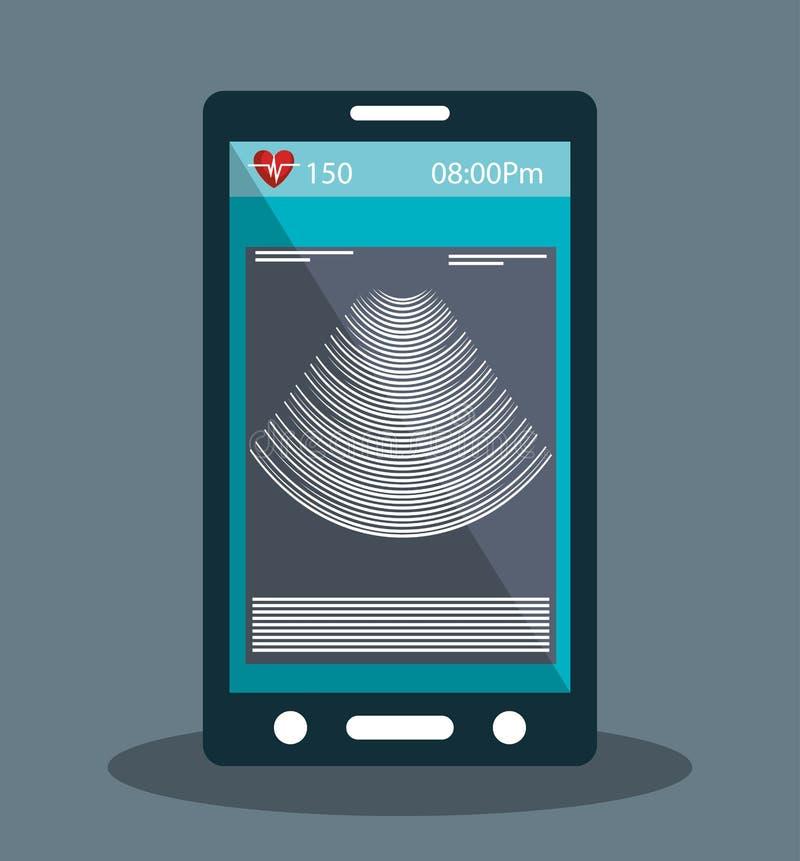 Progettazione online della medicina illustrazione di stock for Progettazione online