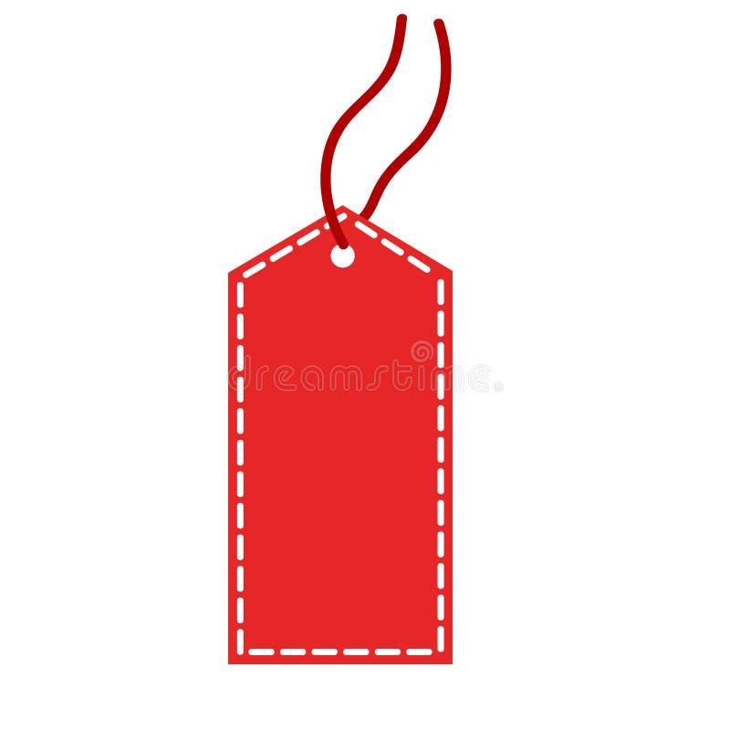 Progettazione online di compera rossa di vendita di etichetta, grafico dell'illustrazione di vettore illustrazione di stock