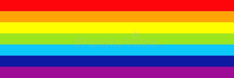 progettazione orizzontale dell'arcobaleno per il modello ed il fondo illustrazione di stock