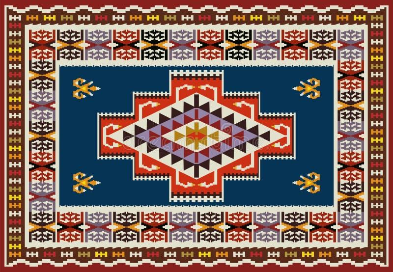 Progettazione ornamentale del tappeto illustrazione vettoriale