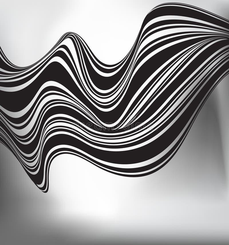 Download Progettazione Ottica Della Banda Mobious In Bianco E Nero Dell'onda Illustrazione Vettoriale - Illustrazione di effetto, geometrico: 55363036