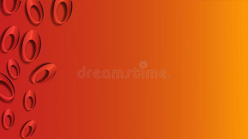Progettazione ovale arancio luminosa del taglio della carta di forma per la calligrafia illustrazione vettoriale