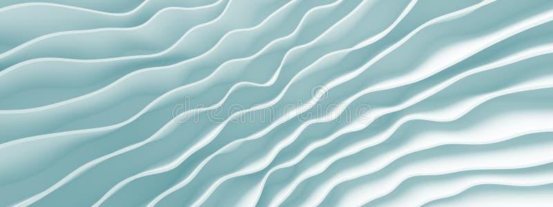 Progettazione panoramica di Wave royalty illustrazione gratis