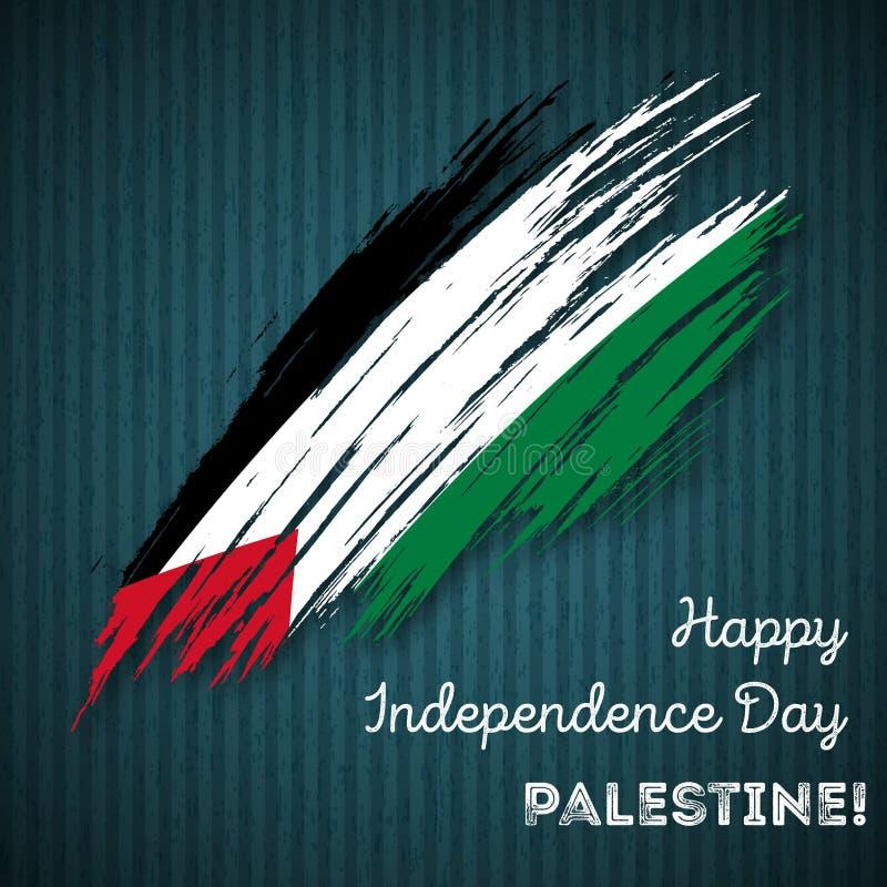 Progettazione patriottica di festa dell'indipendenza della Palestina illustrazione di stock