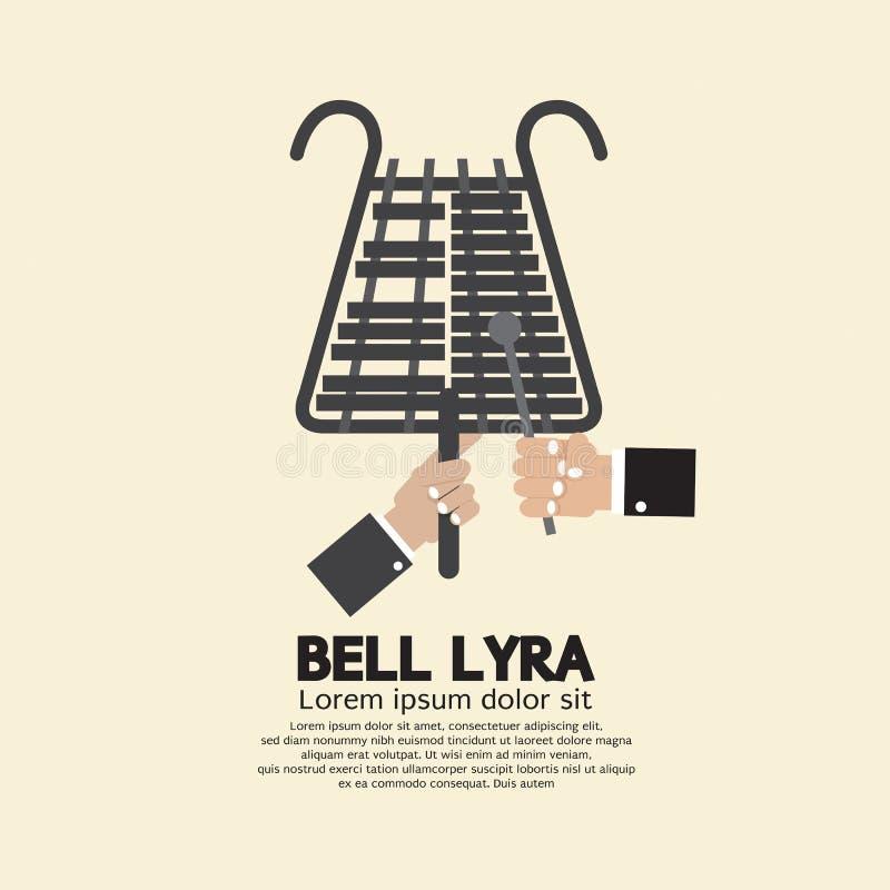 Progettazione piana Bell Lyra con le mani royalty illustrazione gratis