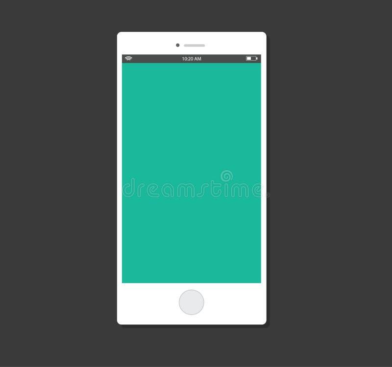 Progettazione piana del corredo di ui del modello dello smartphone fotografia stock