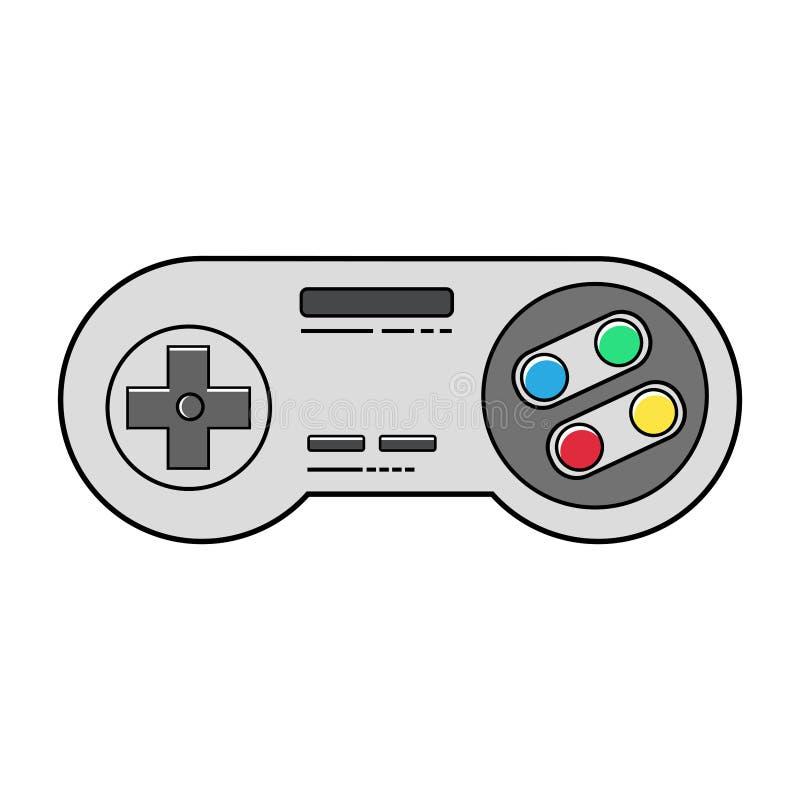 Progettazione piana del regolatore del video gioco della vecchia scuola royalty illustrazione gratis