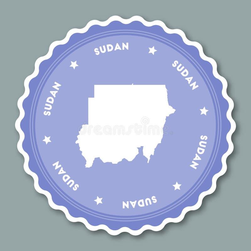 Progettazione piana dell'autoadesivo del Sudan illustrazione vettoriale