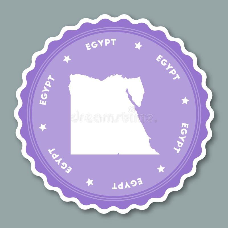Progettazione piana dell'autoadesivo dell'Egitto illustrazione vettoriale