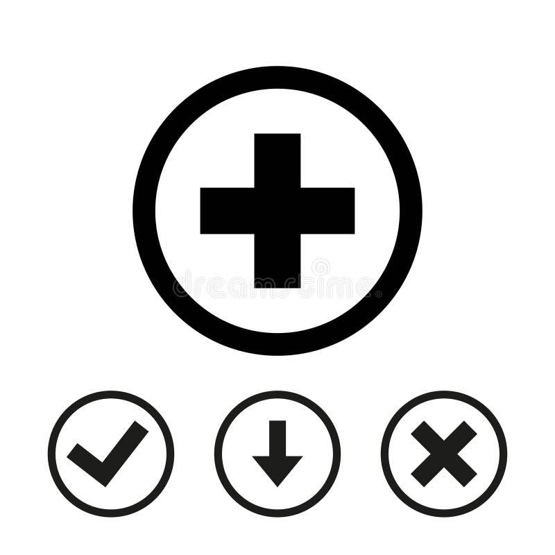 Progettazione piana dell'icona delle azione dell'illustrazione più di vettore royalty illustrazione gratis