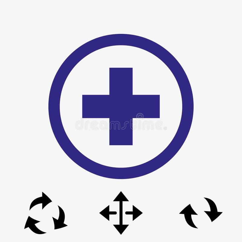 Progettazione piana dell'icona delle azione dell'illustrazione più di vettore illustrazione vettoriale