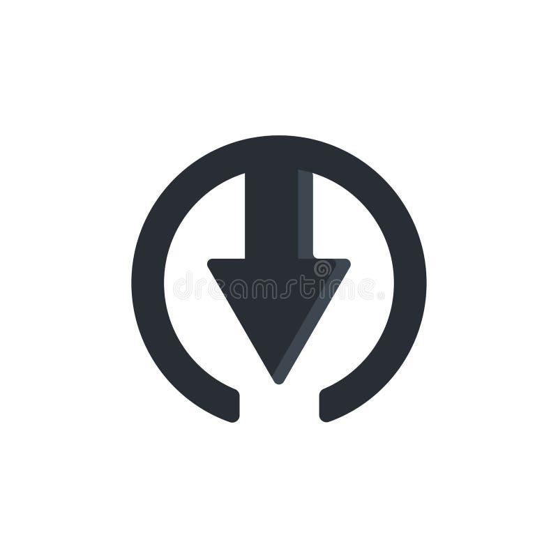 Progettazione piana dell'icona di download illustrazione vettoriale