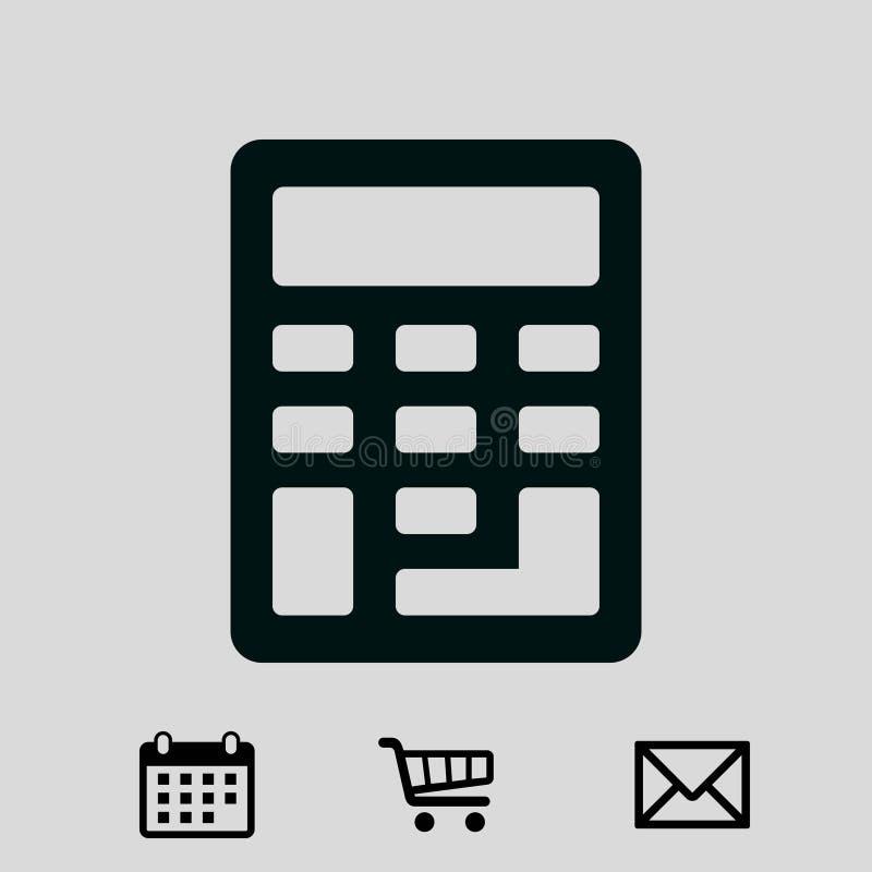 Progettazione piana dell'illustrazione di vettore delle azione dell'icona del calcolatore royalty illustrazione gratis
