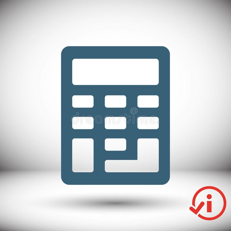 Progettazione piana dell'illustrazione di vettore delle azione dell'icona del calcolatore illustrazione di stock