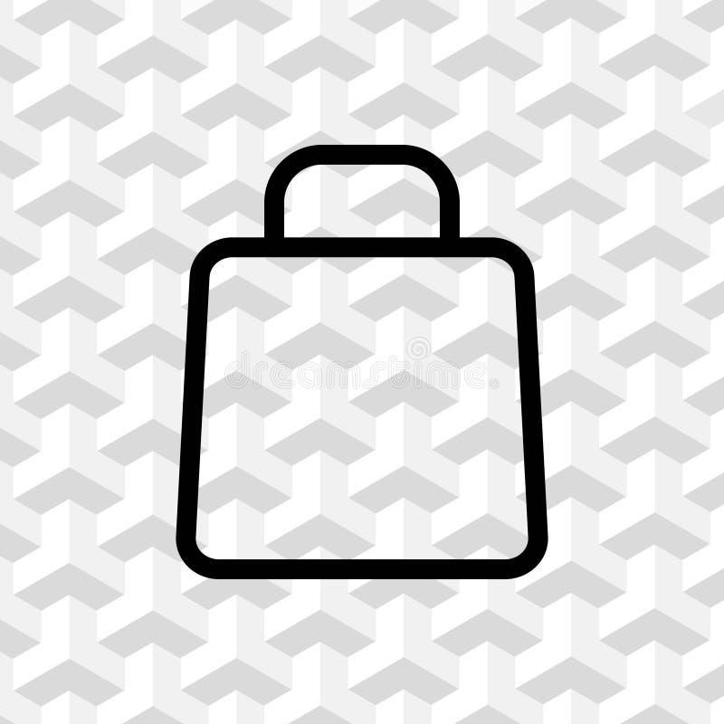 Progettazione piana dell'illustrazione di vettore delle azione dell'icona del carrello illustrazione vettoriale